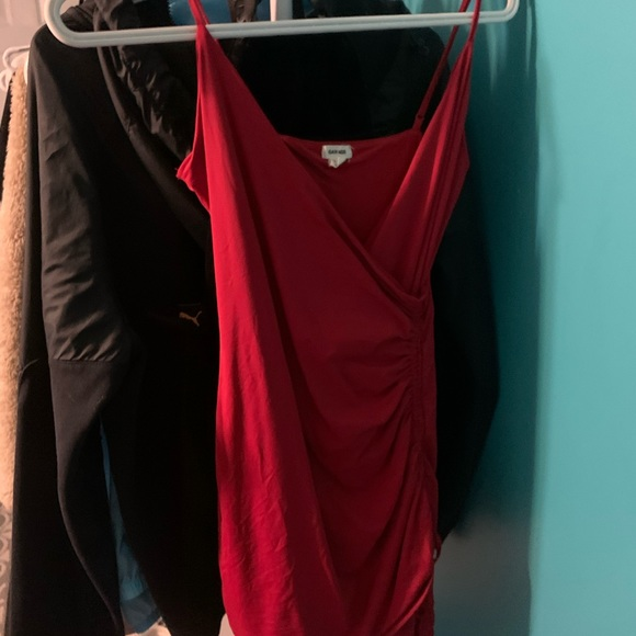 Red dress from garbage!!